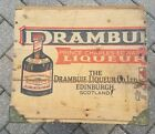 Vintage Scotland Drambuie Wooden Advertising Box With Green Hinged Lid