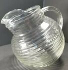 Anchor Hocking Clear Glass Manhattan 20 oz Tilt Ball Ice Water Pitcher Carafe