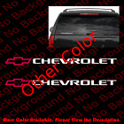 Pairx Chevy Chevrolet Camaro Bowtie Car Windowdie Cut Vinyl Decal Sticker Rc099