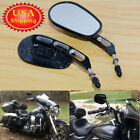 Edge Cut Rear View Mirrors For Harley Dyna Softail Touring Road King XL1200 883