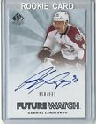 Rookie Collector's Guide to 2011-12 SP Authentic Hockey Future Watch Autographs 71