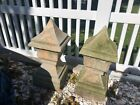 PAIR RARE HTF ANTIQUE LARGE GARDEN FINIAL ENTRY HEAVY GRANITE