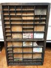Antique Wooden Printers Drawer Tray Wall Display Rack Letterpress Old Vintage