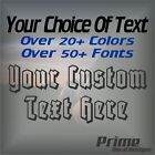 Custom Text Personalized Car Wall Window Vinyl Decal Sticker