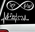Music Notes Heartbeat Lifeline Infinity Decal Sticker Marching Band BG 187