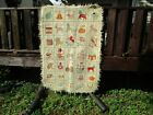 PRIMITIVE STYLE HOOKED RUG??HAND MADE??WOVEN??
