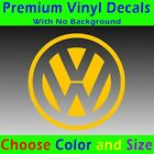 Volkswagen Decal - Vinyl Volkswagen Emblem Sticker Vw Golf Jetta Bug Beetle Bus