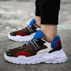 Mens Sneakers Lace Up Sport Causal Suede Athletic Comfort Running Shoes UK SZ