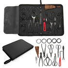 Garden Handmade Bonsai Tool Set Carbon Steel Extensive 15pcs Kit Cutter Scissors