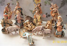 Rare Vintage Fontanini 6 Nativity Scroll Base Pastel Spider Mk 15 Figures