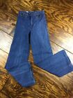 Vintage Womens Longstreet High Waisted Dark Wash Jeans Size 7 27 Cotton Flare
