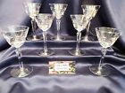 Libbey Rock Sharpe Christine Wine Liquor Cut Glass set of Seven
