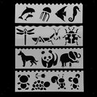 8 Pcs Fine Picture Drawing Template Stencils Rulers Painting For Kids Gifts
