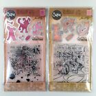 Tim Holtz Sizzix Lot Of 2 Cat Chat Dog Talk Clear Stamp Dies  Embossing Folder