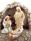 Christmas Nativity Creche with 7 Figures Holy Family Angel Large Set Demdaco New