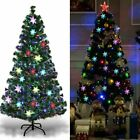 7Ft Pre Lit Artificial Pine Christmas Tree w 350 LED Lights Stand Holiday