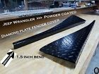 JEEP wrangler TJ Powder Coat Aluminum Diamond Plate Fender Covers 15 inch BEND
