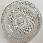 Vintage Cut Glass Wexford Cigarette Ashtray Round Heavy Clear Diamond Cut