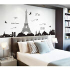 Paris Eiffel Tower Art Decal Wall Sticker Mural Removable For Bedroom Home Decor