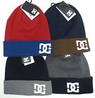 DC SHOES Men's Cuffed Beanie *Embroidered Logo Skater Cap Various Colors *One Sz