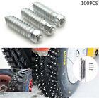 100 Pcs 256mm Car Tires Studs Screw Snow Spikes Wheel Tyres Snow Chains Studs