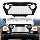 1Pcs Front Grill Grid Grille Cover For Jeep Wrangler TJ 1997 2006White