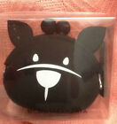 BCBGMAXAZRIA BLACK WITH WHITE CAT KITTY FACE WITH EARS COIN PURSE NEW