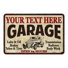 YOUR NAMES Garage Personalized Man Cave Metal Sign Decor Gift 112180014001