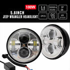 3x 7 Silver LED Headlights + 45 Cree LED Fog Lights Jeep Wrangler Motocycle