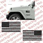 PAIR USA American Flag Vinyl Decal Sticker Car Truck Window Jeep Wrangler US020