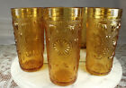 (7) Brockway AMERICAN CONCORD AMBER Tumblers/Glasses 10oz 5.5