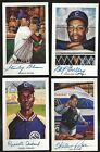 Negro leagues 4 Autographed TOUGH Auto Ron Lewis Cards Deceased + 4 Unsigned