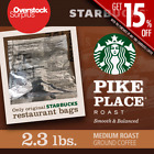 Starbucks Ground Coffee Pike Place 23 LBS EXTRA 15 OFF 3 DAY SHIPPING