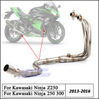 For Kawasaki Ninja 200 300 Z250 Full Exhaust Connecting Pipe Stainless Steel