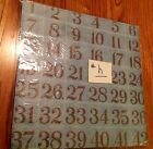 LOTh NEW 25 EMBOSSED NUMBERS SHEET 12 X 12 SCRAPBOOKS PAPERS CARDMAKERS RESALE