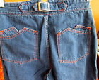 7 8 24x31 Vtg 70s Womens BUCKLEBACK HIGH WAIST DISCO Hippie Jeans WARDS