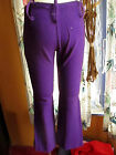 28x27 Vtg 60s Womens ROYAL PURPLE RELIC KNIT HIPHUGGER JEANS SLACKS