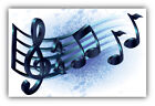 Love Music Notes Car Bumper Sticker Decal 3 5 6 or 8