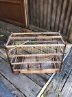 Hand Crafted Bird Cage Canary CoalMining Wood And Wire