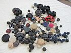 Large Lot of Vintage to Antique Covered Fancy Buttons, Crochet etc.