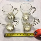 Vintage Bar Glasses With Individual Handled Holders-4