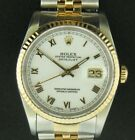Rolex 18K Steel & Gold Oyster Perpetual Datejust Watch 16233