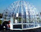 Inflatable Hot Tub Spa Solar Clear Dome Cover Tent Structure W Pump
