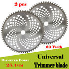 2x 10 Inch Carbide Tip Brush Cutter Trimmer Weed Eater Blade 1 Bore 60 Teeth