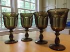 4 VINTAGE Imperial Glass Co Williamsburg glasses Water Wine MID CENTURY MODERN