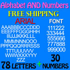 LETTERS and NUMBERS PACK ARIAL FONT 3 4 1 15 2 25 3 FREE SHIP STICKERS