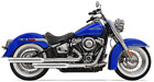 Bassani 1S39S Chrome Staggered Dual Exhaust Harley Softail 18 19 Heritage Deluxe