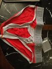 Baskit Men's Modal Brief Red with Grey Trim Size M