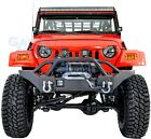 Rock Crawler Extreme HD Front Bumper+Winch Plate for 97 06 Jeep Wrangler TJ