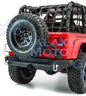 Rear Bumper+Tailgate Tire Carrier+2Hitch+Dual Plate for 97 06 Jeep Wrangler TJ